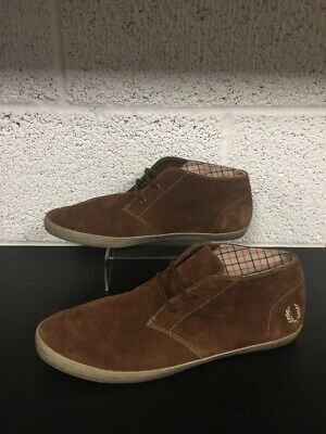 £25 • Buy Fred Perry Brown Suede Leather Desert Boots - Casual Chukka Shoes - UK 9