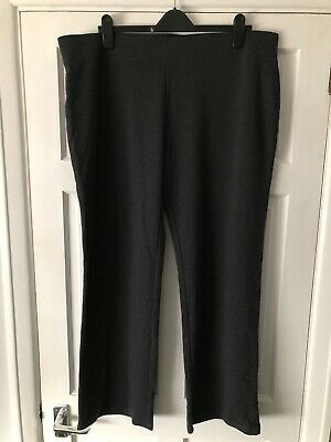 £7.50 • Buy NEW M&S Size 20 Regular Charcoal Cotton Straight Leg Joggers Trousers