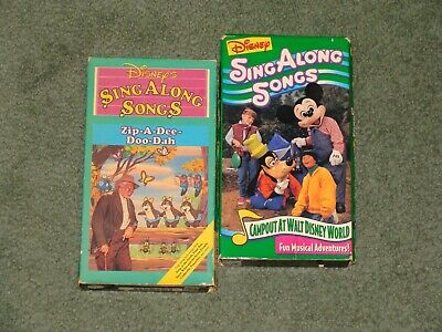 £3.64 • Buy Walt Disney Sing Along Songs Zip-a-dee-doo-dah Vhs Song Of The South Campout At