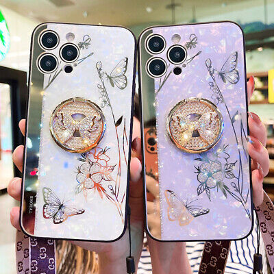 AU13.99 • Buy For IPhone 13 12 11 Pro Max XS XR 7/8 Flower Butterfly Cover Case With Strap