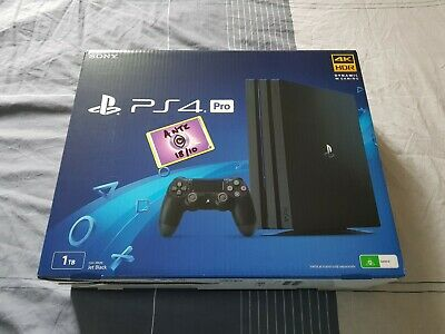 AU420 • Buy Sony PlayStation 4 PS4 Pro 1TB Jet Black - Used (Like New) With Mint Box
