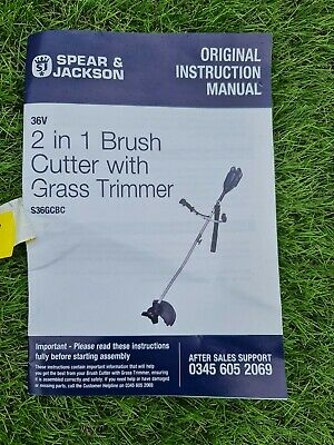 £19 • Buy Spear And Jackson Cordless 2in1 Brush Cutter With Trimmer  36v