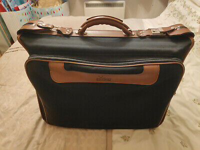 £36 • Buy Antler Suit Carrier Case / Dress Case - Black With Tan Leather Accents