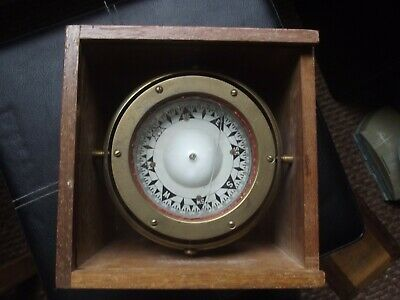 £120 • Buy Vintage Maritime Ships Compass In Wooden Box - Sestrel.