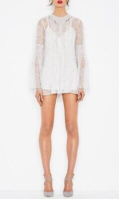 AU180 • Buy Alice McCall White Floral Hands To Myself Lace Playsuit Size 6