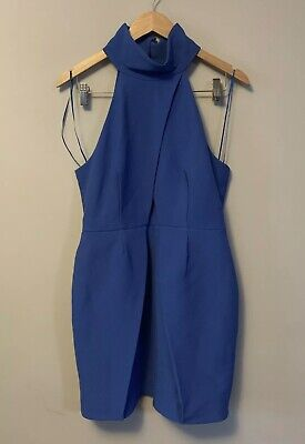 AU15 • Buy BNWT Finders Keepers Dress Size L Blue Choker Neck Mini Party Special Occasion