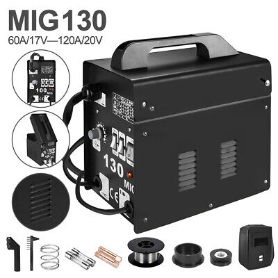 £69.99 • Buy MIG-100 Welder Gasless No Gas Flux 230V Welding Machine Portable With Mask Kits