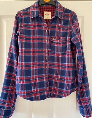 £6.99 • Buy Ladies Hollister Red And Blue Checked Shirt XS