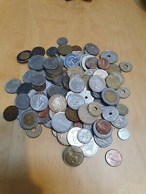 £7.99 • Buy Huge Mixed Bulk Lot Of Over 100 Assorted World/foreign Coins