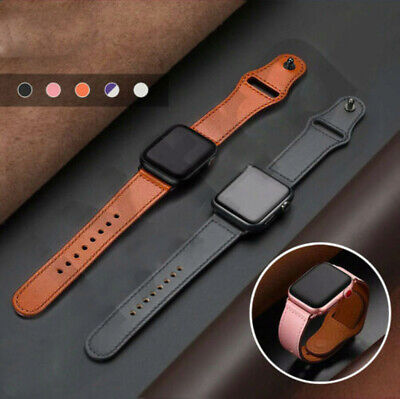 AU13.99 • Buy For Apple Watch 7 SE 6 5 4 3 2 IWatch 38 42 40  44mm Retro Leather Strap Band