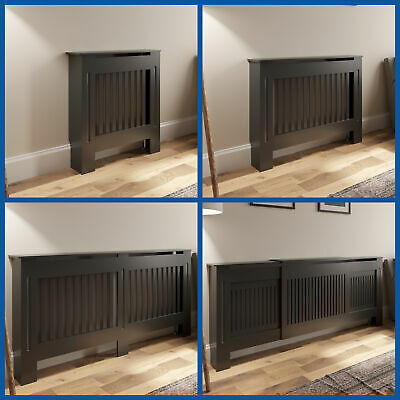 £89.99 • Buy Radiator Cover Wall Cabinet MDF Wood Anthracite Vertical Style Multiple Sizes