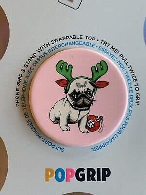 AU16.02 • Buy PopSockets-PopGrip Cell Phone Grip & Stand - Holiday Pug