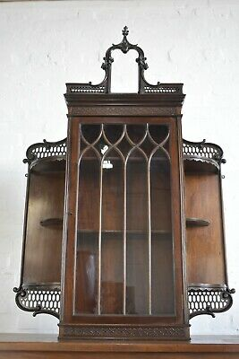 AU413.87 • Buy Antique Victorian Wall Mounted Glazed Cupboard / Display Cabinet