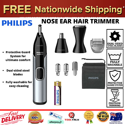 AU101.68 • Buy Philips Norelco Nose Trimmer 5000 Mens Ear Eyebrow Hair Shaver Cordless Grooming