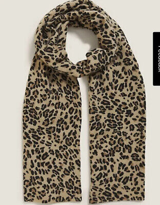 £39.99 • Buy Brand New Marks & Spencer Pure Cashmere Animal Print Scarf Camel Mix