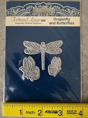 £4.20 • Buy Tattered Lace Dragonfly And Butterflies Die Set + Free Charisma Images As Pics