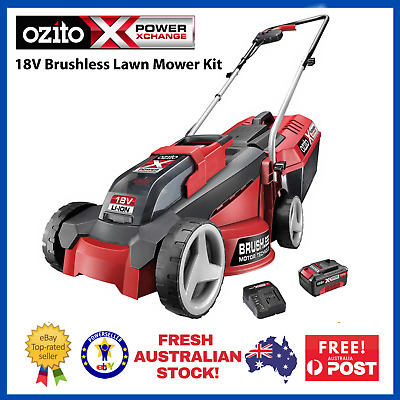 AU274.90 • Buy Cordless Lawn Mower Ozito PXC 18V Brushless Motor Grass Trimmer Battery Charger