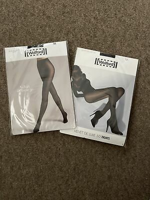 £8.10 • Buy Wolford Velvet De Luxe 50 Tights Size M X2 Pairs