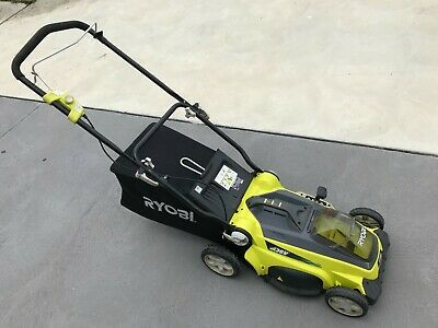 AU79 • Buy Ryobi RLM36 36v Lawn Mower With Charger - Needs New Battery