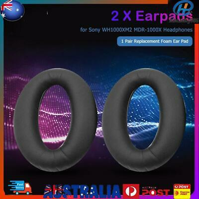 AU14.69 • Buy 1 Pair Replacement Ear Pads For Sony WH1000XM2 MDR-1000X Headphones (Black)