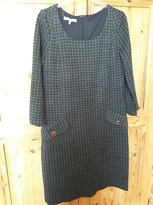 £3 • Buy Laura Ashley Lined Grey Checked Dress Size 12