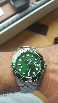 £299.99 • Buy Andre Belfort New Sous Les Mers  Steel Green Automatic Wristwatch