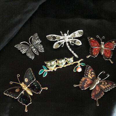 £4 • Buy House Clearance Jewellery Job Lot Brooches Mixed Age Listing As Gold Tone /