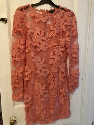 £4.99 • Buy Stunning Topshop Pink Dress Size 10 Worn Once Weddings Party