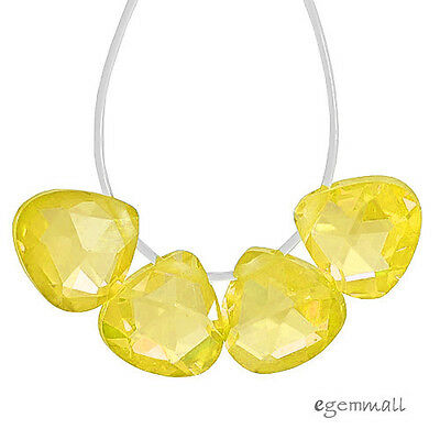 $6.47 • Buy 10 Cubic Zirconia Flat Pear Briolette Beads 6x6mm Yellow #64125