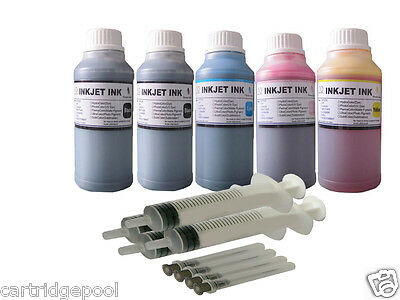 £29.72 • Buy 5x250ml ND® Refill Inks For Canon PG-210 CL-211 PIXMA MX420 IP2700 IP2702