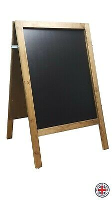 LARGE WOODEN A BOARD PAVEMENT SIGN MENU  - 100cm X 62cm - WEIGHT 10KG • 22.99£