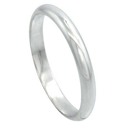 $5.99 • Buy SOLID Sterling Silver Band Comfort Fit Ring Genuine 925 Wholesale Mens Womens