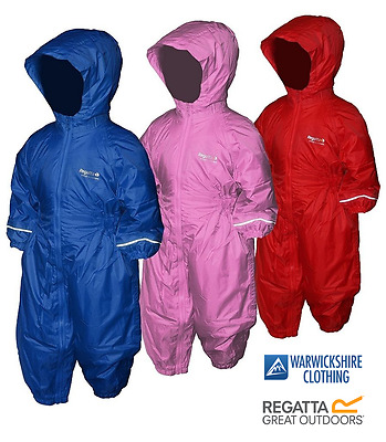 Regatta Splosh Iii Waterproof Padded All In One Fleece Lined Snow Rain Suit Kids • 24.99£