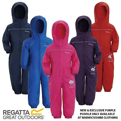 Regatta Kids Puddle / Paddle Suit Breathable Wind Waterproof All In One Rainsuit • 16.95£