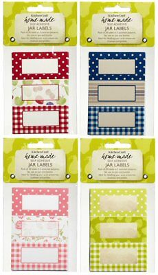 JAM, PICKLE, CHUTNEY, PRESERVE JAR LABELS Pretty Jam Labels In Various Designs • 3.20£