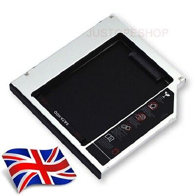£6.99 • Buy 2nd Hard Drive HDD/SSD Bay Caddy 9.5mm SATA To SATA For Laptops Slimline PC Etc