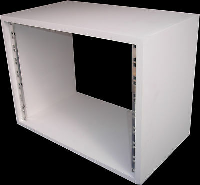 8u UNIT 19  INCH RACK CABINET RECORDING STUDIO FURNITURE IN WHITE PRIMER • 40.99£
