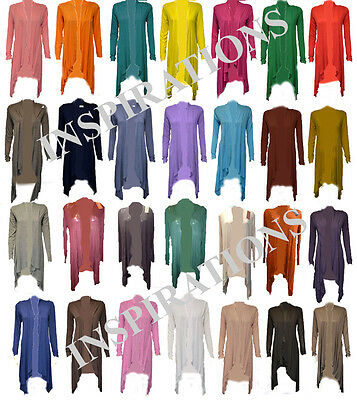 Womens Ladies Floaty Waterfall Cardigan (All Colours) • 5.50£
