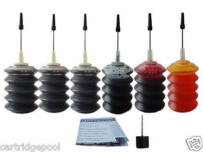 £11.60 • Buy Refill Ink Kit For Canon PG-40 CL-41 JX200 Ip1600 Ip1700 Ip1800 Ip2600 6x30g