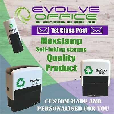 £9.65 • Buy Personalised Name Address & Logos Self Inking Rubber Stamp Free Design 1st Class
