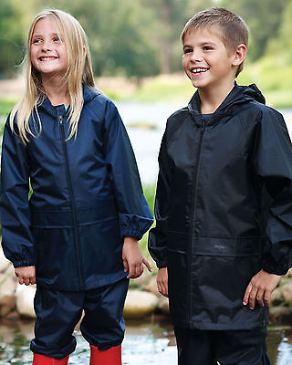 Regatta Kids Navy Stormbreak Jacket & Trouser Waterproof Suit Set Boys & Girls • 19.99£