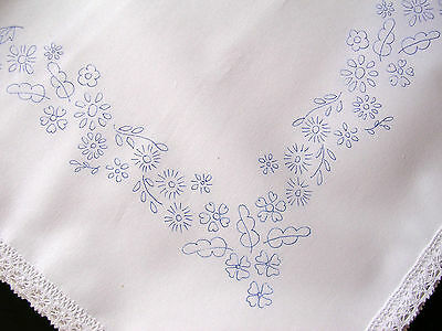 Tablecloth To Embroider Cotton Lace Edge Flowers Border Embroidery CSOOO2 • 18£