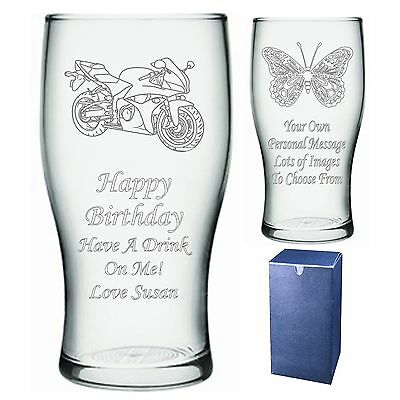Personalised Pint Glass Uncle Brother Nephew Birthday Gift - Present -   Im1 • 9.99£