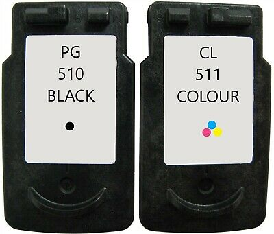 Refilled Ink For Canon 510 Black PG-510 + Canon 511 Colour CL-511 MP240 MP250 • 22.99£