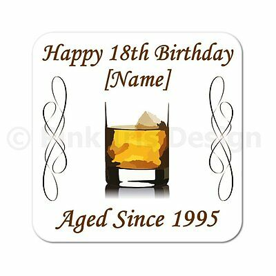£3.50 • Buy Personalised Whiskey 40th   50th   60th   65th   70th Birthday Gift Coaster