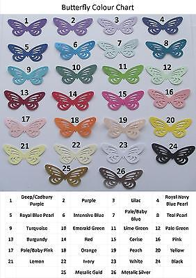 £4.50 • Buy 20 BUTTERFLY CARD MAKING TOPPERS  Various Colours