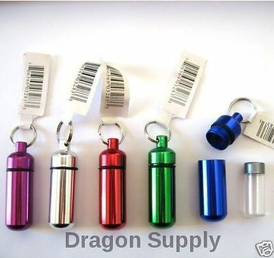 New 5PC  Small Pill / ID Holder KeyChain ( Assorted Colors ) • 7.89$