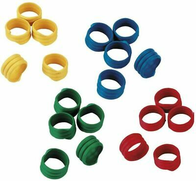 10 X 16mm Poultry Spiral Leg Rings 6 Colours Chicken Duck Hen Hatching Eggs • 3.89£