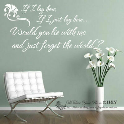 If I Lay Here  Wall Quote Removable Nursery Decor Vinyl Decal Sticker Home DIY • 10.13£