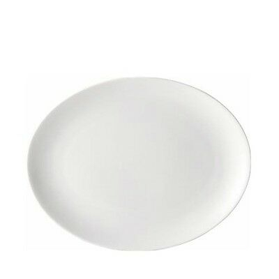 6 X Oval 10  Plates, Porcelain, White, Restaurant And Home Use  • 25.99£